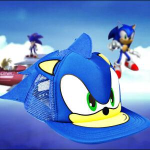 Sonic the Hedgehog Beanie Cosplay Costumes Peaked Kid Cap Hat Fancy Dress Gift
