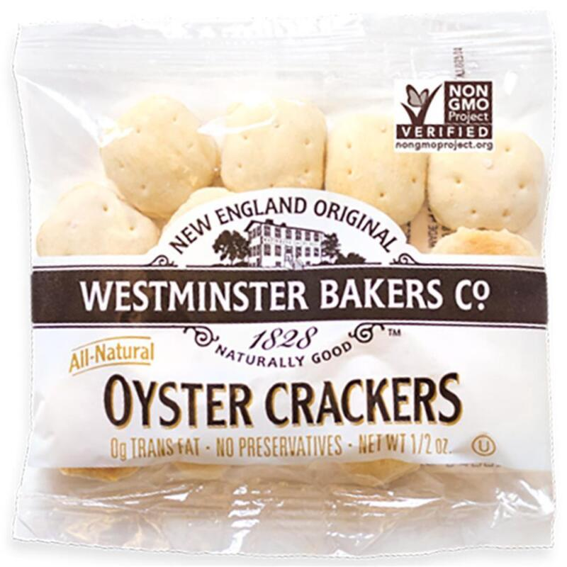 WESTMINSTER CRACKER CO -Old Fashioned Oyster Crackers, Pack of 150 ( 0.5 oz b...