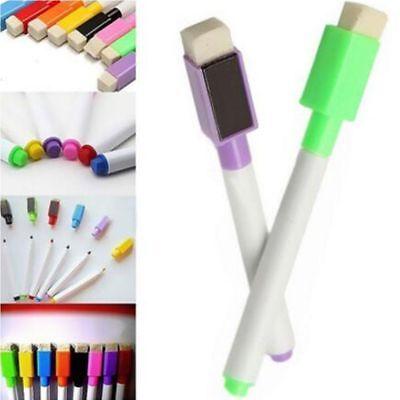 Magnet 8 Pcs A Set Magnetic Markers White Board Markers Pens Built In Eraser