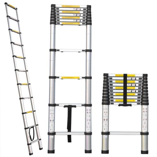EN131 Std. Portable 8.5Ft Aluminum Telescopic/Telescoping Ladder Extension Loft