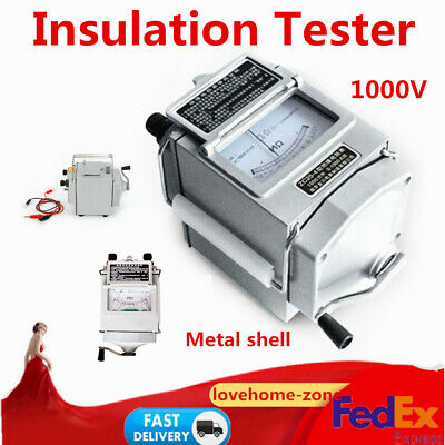 Metal Megger Meter Insulation Tester Resistance Meter 120rpm Measure Tool
