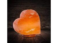New Himalayan heart salt stone lamp