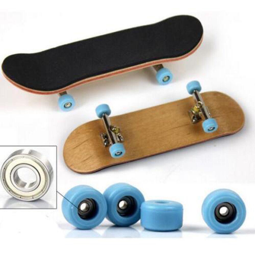 Wooden Black Fingerboard Skateboard Sport Games Kids Pretend Play Xmas Gift