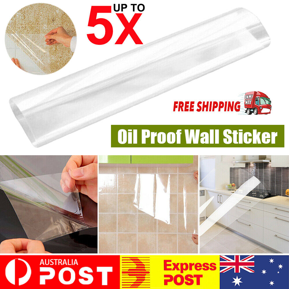 Home Decoration - Transparent Waterproof Oil Proof Wall Sticker Self Adhesive Kitchen Home Decor