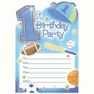 1st Birthday All Star Birthday Party Invitations & Envelopes 20 Per Package New - All Star Birthday Invitations