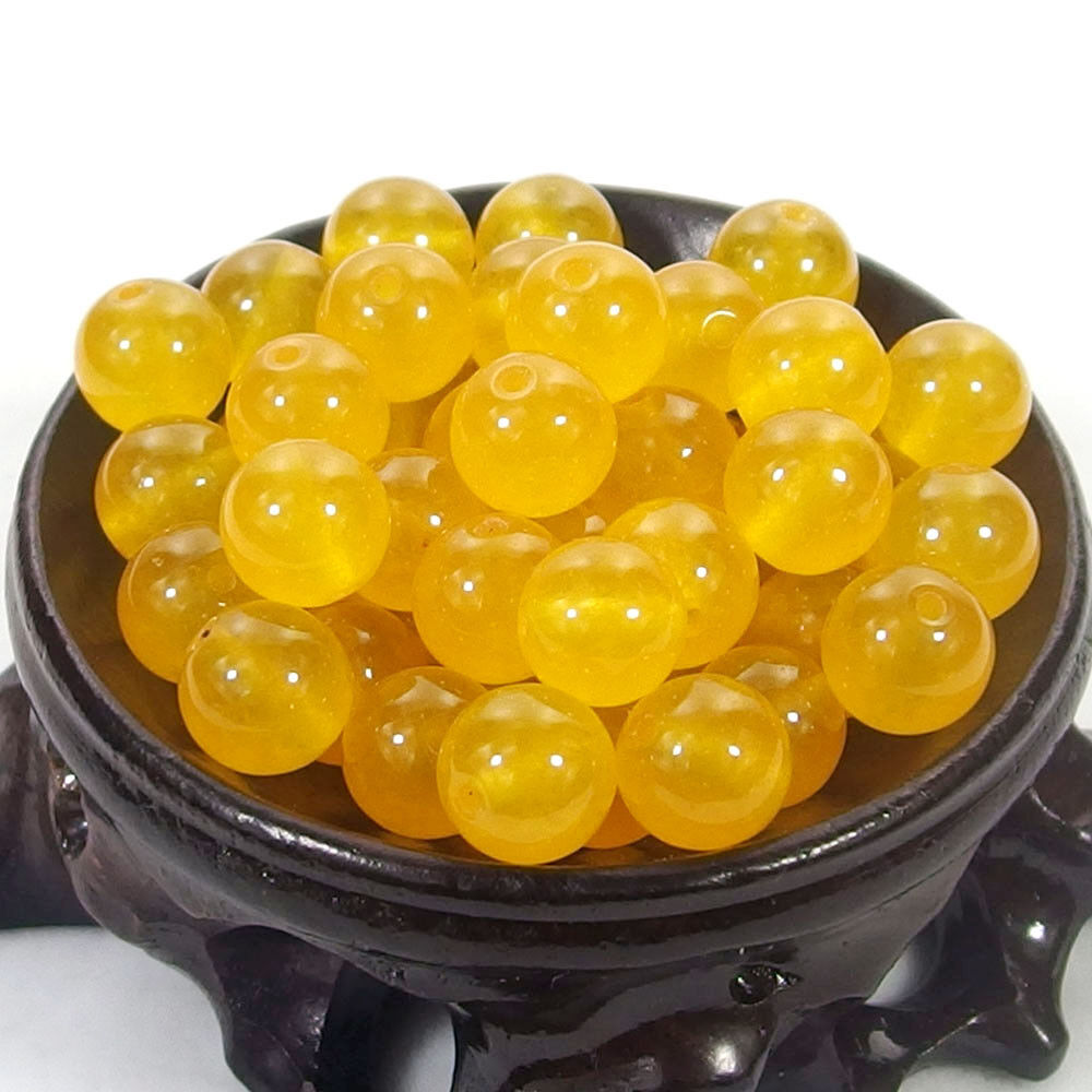 Bulk Gemstones I natural spacer stone beads 4mm 6mm 8mm 10mm 12mm jewelry design yellow jade