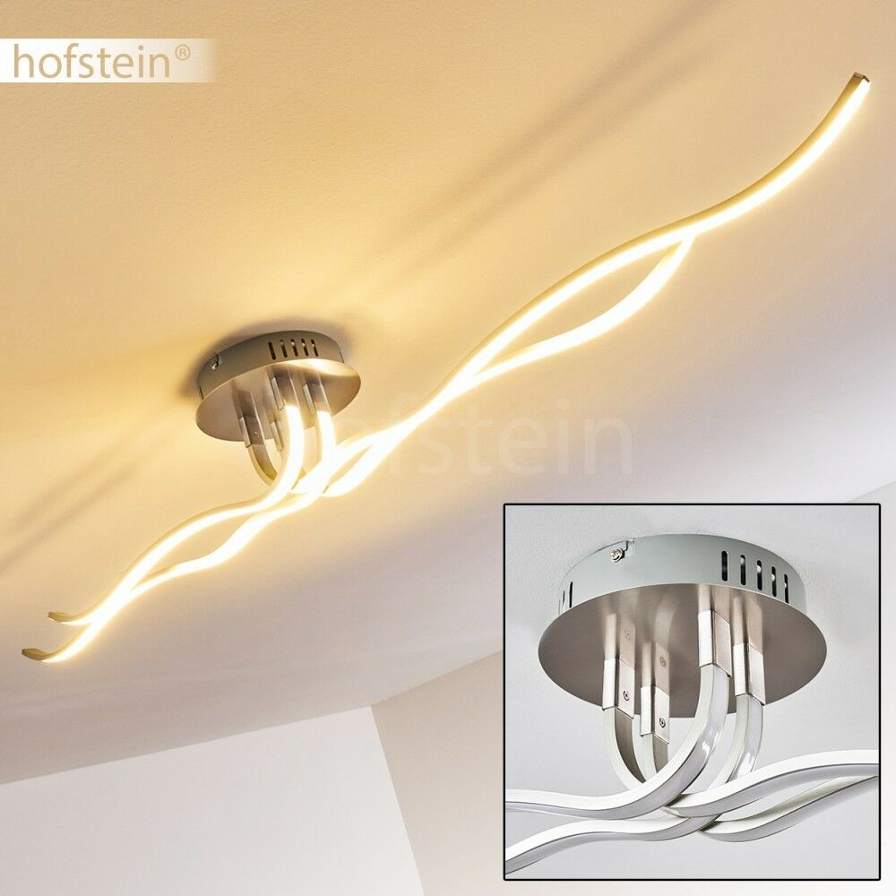 LED Decken Leuchten Wellen Design Flur Büro Wohn Schlaf Raum Beleuchtung Lampen