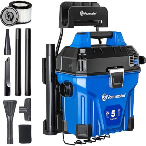 Vacmaster 5 Gallon Wall-Mount Wet Dry Vacuum Cleaner Remote Control 5 Peak HP