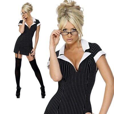 Sexy Schule Sekretärin Kostüm Ungezogen Junggesellinnenabschied Lehrer UK 8-14