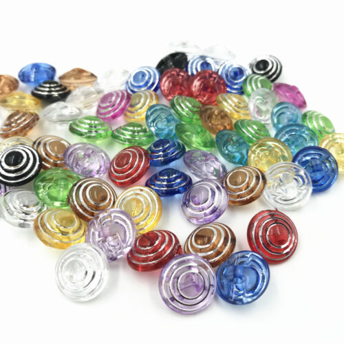 100Pcs Mixed Color 4 Hole Round Resin Buttons Sewing Scrapbook Craft 13mm yrk030