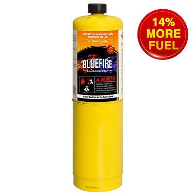 Bluefire Mapp Map Pro Gas Fuel Cylinder16.1 Oz 14 Bonus Hotter Than Propane
