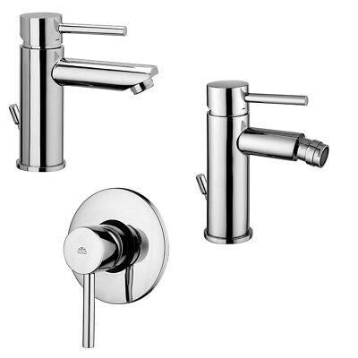 Miscelatori serie completa lavabo incasso a muro + bidet + doccia Paffoni Stick