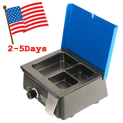 Dentist Dental 3 Well Analog Wax Melting Dipping Pot Heater Melter Lab Equipment