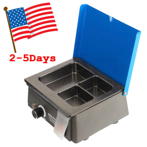 110V Dental 3Well Analog Wax Melting Dipping Pot Heater Melter Lab Equipment