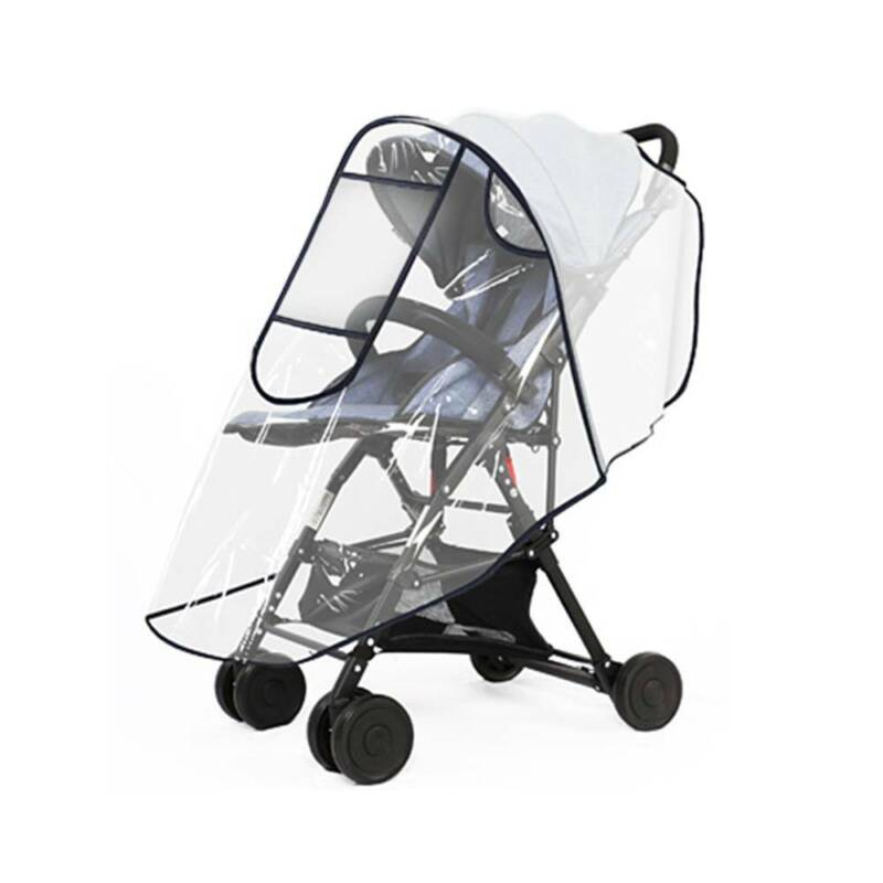 Clear Rain Cover for Stroller Infant Baby Stroller with Zippers Wind Snow Dust Transparent Shield Infant Pram Stroller Pushchair Breathable Accessories