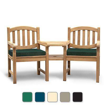 Kennington FULLY ASSEMBLED Love Seat - Tete a Tete Companion Bench - Cushion