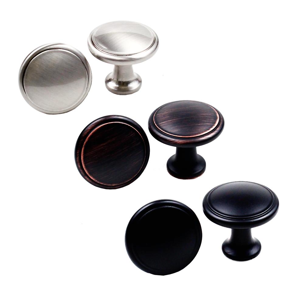 Knob Handle Pull Kitchen Cabinet Hardware Round Mushroom Col