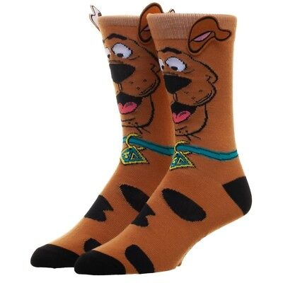 Scooby Doo Novelty Cartoon Character 360 Crew Socks W/Ears