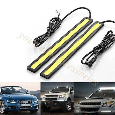 High quality 2 X Car LED 6000k DRL Daytime Running Light Stick-on 12V US LOCALS
