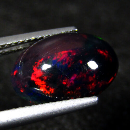3.45CTS EXQUISITE 3D MULTI COLOR NATURAL WELO SOLID BLACK OPAL LOOSE GEMSTONE
