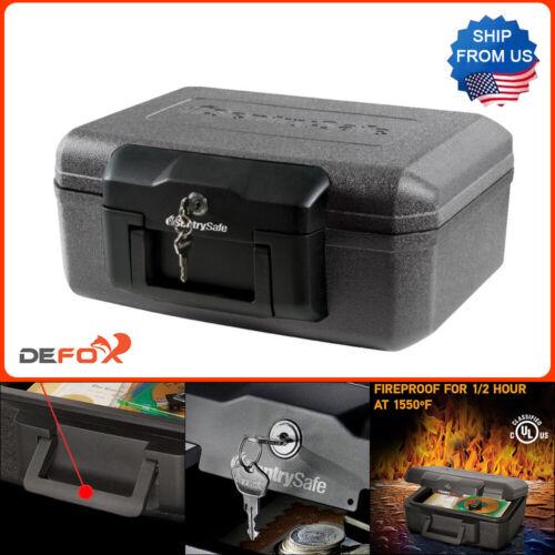 SentrySafe Fireproof Safe 0.18 cu ft w Key Lock Protect Valuables Document Safe