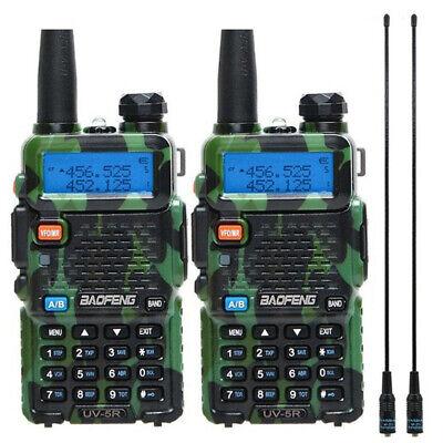 2x UV-5R 5W Baofeng V/UHF Walkie Talkie Dual Band Two Way Radio+2x 771 Antenna