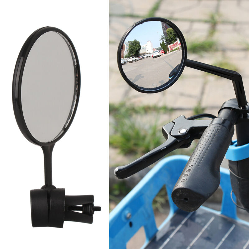 Rubber+ABS Motorcycle Looking Glass Handlebar Bicycle Mirror Bike Rearview