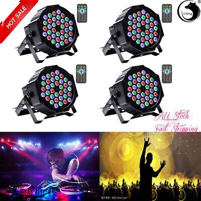 4PCS 80W Disco DJ 36LED DMX Beam Stage PAR Light Party Effect Lighting UpLighter
