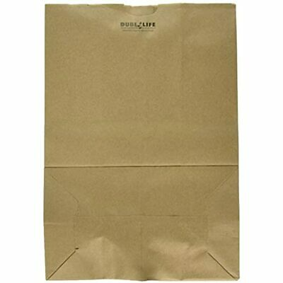 Heavy Duty Kraft Brown Paper Barrel Sack Bag, 57 Lbs Basis Weight, 12 X 17, 100