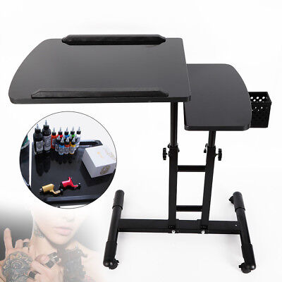 Best! Adjustable Tattoo Mobile Work Station Stand Portable Tattoo Desk