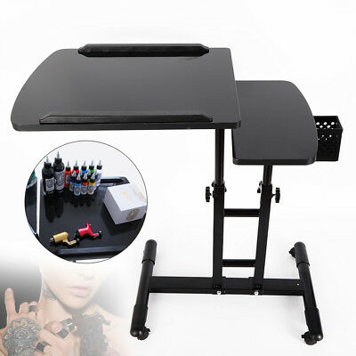 Adjustable Large Mobile Tattoo Work Station Stand Tattoo Desk Table Portable