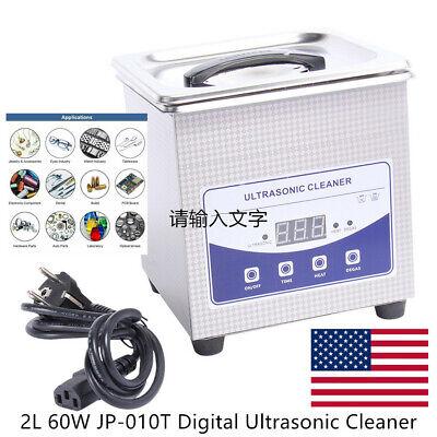 2l 60w Digital Ultrasonic Cleaner Heated Timer Ultra Sonic Cleaning Machine Us