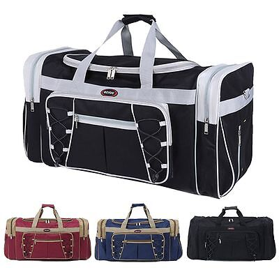 "New 26"" Heavy Duty Tote Gym Sports Bag Duffle Travel Carry Shoulder Bag Luggage"