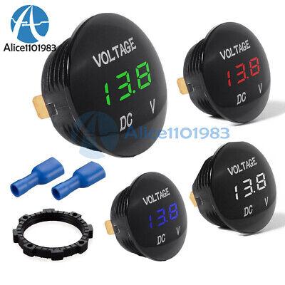 Led Panel Dc 12v-24v Digital Voltage Volt Meter Display Voltmeter Motorcycle Car