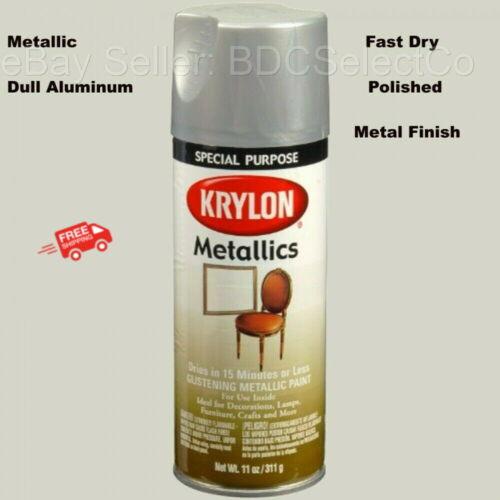 Fast Dry Metallic Spray Paint Dull Aluminum Wood, Metal, Wicker, Glass, Plaster