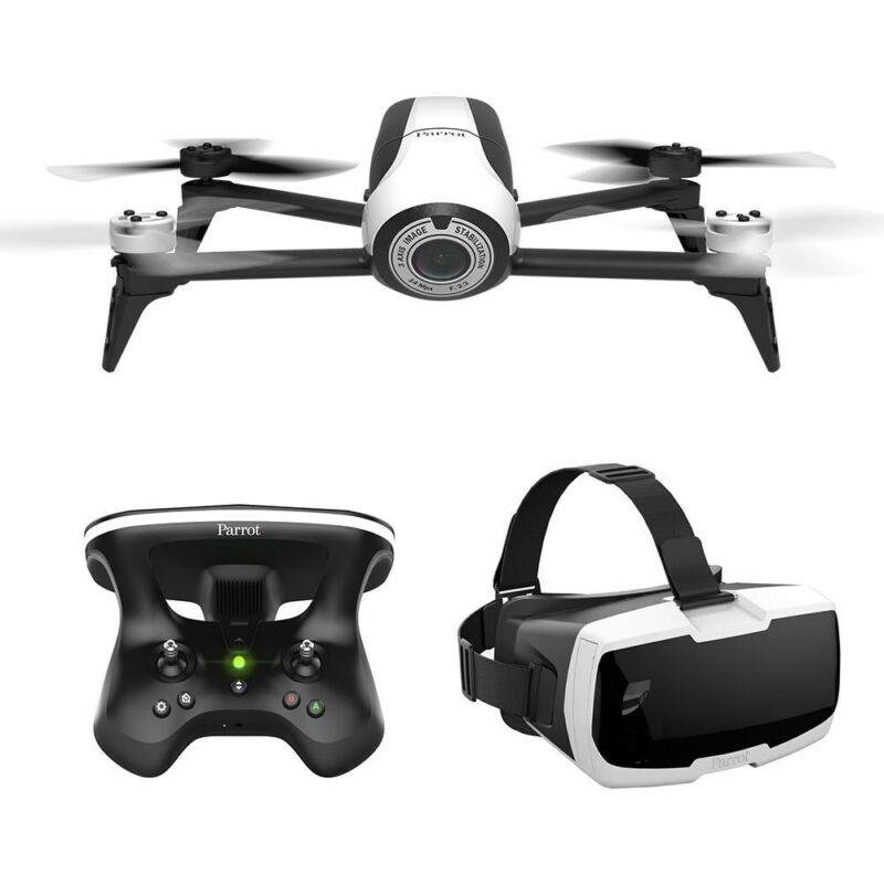 Parrot Bebop 2 Quadcopter with Skycontroller 2 and Cockpit FPV Glasses White 48179BBR