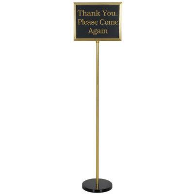 Brass 60 Changeable Restaurant Hostess Wait Teller Seating Sign W 15 Messages