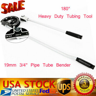 Manual Tube Bender 34 For Plumbing Gas Refrigeration Copper Aluminum Pipe New