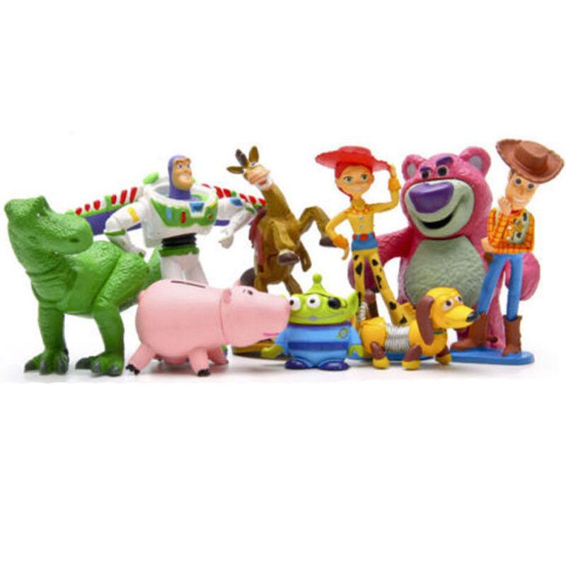 Toy Story Buzz Lighter Woody Jessie Dinosaur Lotso Action Figure Kids Toy 9 PCS