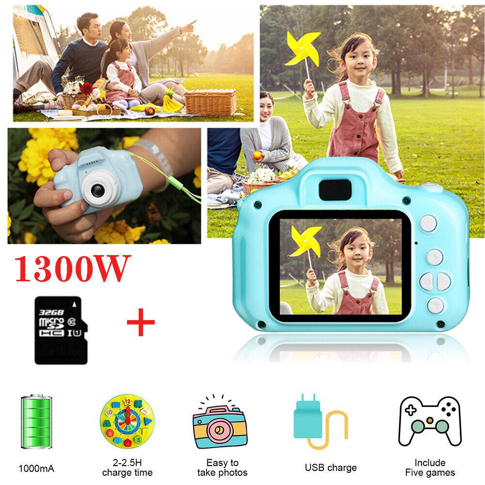 """2.0"""" LCD 1080P Kinderkamera Digitalkamera für Kinder Geschenk Spielzeug 32GB DE"""