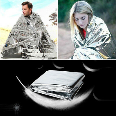 Outdoor Emergency Solar Blanket Survival Safety Insulating Mylar Thermal Heat L
