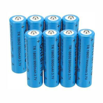 8PACK Battery 9900mAh 18650 3.7v Rechargeable Batteries Cells