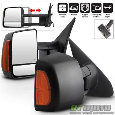 Pair(2) For 2007-2017 Toyota Tundra/Sequoia Power Heated LED Signal Tow Mirrors