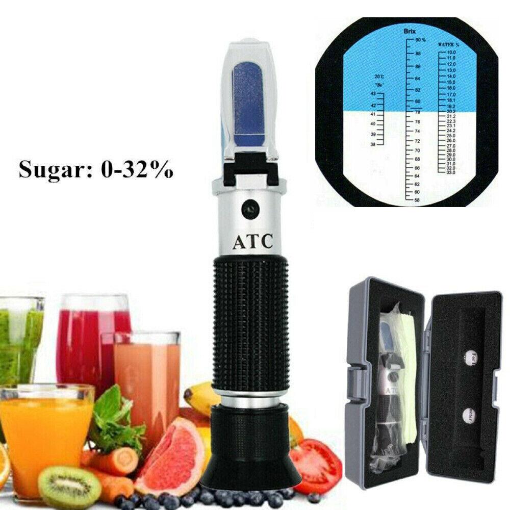 Refraktometer Honig Imker Wasser Zucker Gehalt Prüfer Prüfvorrichtung Brix 0-32%