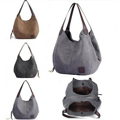 Women Canvas Handbag Shoulder Bags Large Tote Purse Travel Messenger Hobo Bag