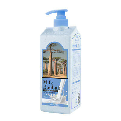 Milk Baobab Body Wash White Musk 1000ml Smoothing Skin Moisturizer K beauty