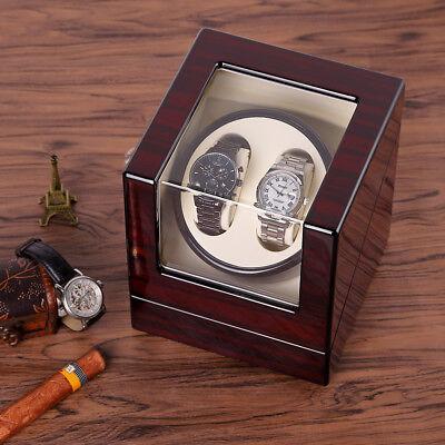Uhrenbeweger Uhrenbox für 2 Uhren Watchwinder Automatisch Uhrendreher Kasten