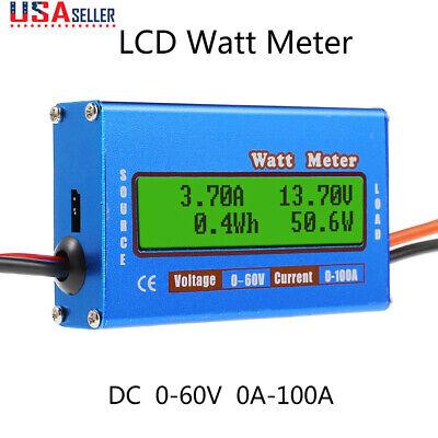 Digital Monitor Lcd Watt Meter 60v100a Dc Ammeter Rc Battery Power Amp Analyzer