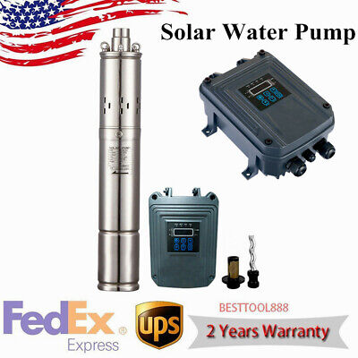 Deep Well Solar Water Pump Stainless Steel Submersible Water Pump Dc72v Us New