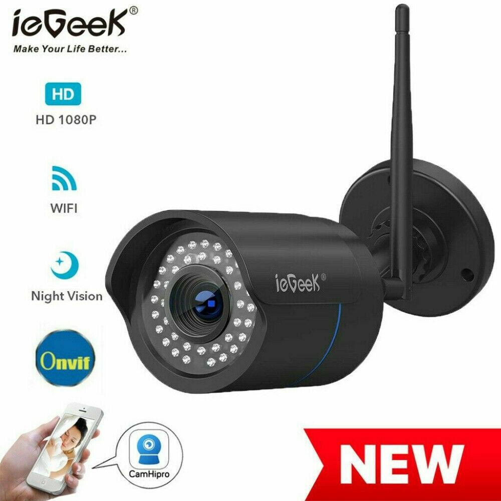 iegeek 1080P CCTV IP NETZWERK CAMERA AUßEN ÜBERWACHUNGSKAMERA Outdoor FUNK WLAN
